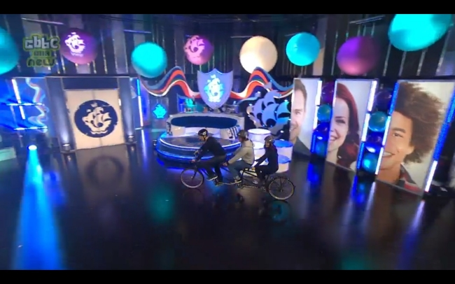 One of our Triplets being used on BBC Blue Peter In July 2016